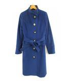 ビアッジョブルー Viaggio Blu スタンドカラー コート 上着 アウター ロング アンゴラ ウール 無地 青 1