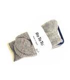 ロトト RoToTo ダブルフェイスソックス 靴下 R1001 グレー サイズM(25-27)コットン ウール