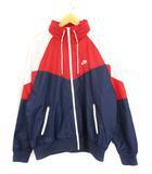ナイキ NIKE スポーツウェア ウィンドランナー ジャケット 上着 ジップアップ ナイロン AR2210-410 赤 紺 白 L