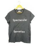 アクネ ストゥディオズ Acne Studios トップス Tシャツ 半袖 プリント 丸首 コットン グレー 白 XS