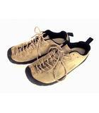 キーン KEEN アウトドアスニーカー トレッキングシューズ クライミングシューズ JASPER ジャスパー 1002672 スエード レザー 革 靴 ベージュ 黒 ブラック サイズ27.5