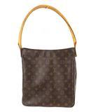ルイヴィトン LOUIS VUITTON モノグラム ルーピングGM ワン ショルダーバッグ かばん 鞄 M51145 ブラウン