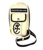 カステルバジャック CASTELBAJAC ミニ ワンショルダー バッグ ボディバッグ かばん 鞄 合成皮革 アイボリー 黒 黄 緑