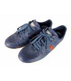 グッチ GUCCI スニーカー シューズ 靴 レザー 革 マイクログッチシマ シグネチャーウェブ シグネチャーウェブ ブルー 青 サイズ6.5G