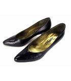 イヴサンローラン YVES SAINT LAURENT パンプス ヒール レザー 革 靴 サイズ37 黒 ブラック