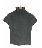 ラルフローレン RALPH LAUREN トップス ニット セーター タートルネック コットン 綿  厚手 半袖 無地 チャコールグレー 灰 M