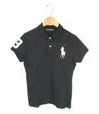 ラルフローレン RALPH LAUREN トップス ポロシャツ ビッグポニー 刺繍 ワッペン ストレッチ 半袖 ブラック 黒 L
