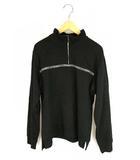 マンシングウェア MUNSINGWEAR ゴルフウェア トップス シャツ ハーフジップ ロゴ スタンドカラー 長袖 ブラック 黒 M