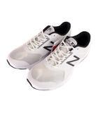 ニューバランス NEW BALANCE ジョギング ランニング シューズ スニーカー 靴 M411LW1 白 黒 28cm