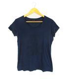 マカフィー MACPHEE トゥモローランド ロゴ プリント Tシャツ カットソー トップス 半袖 ネイビー 紺 1