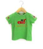 ミキハウス ダブルビー ダブルB MIKIHOUSE DOUBLE.B アップリケ 刺繍 Tシャツ カットソー トップス B君 ワッペン 半袖 グリーン 緑 90 ベビー服