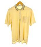 バーバリーズ Burberrys 半袖 ポロシャツ 鹿の子 綿 コットン 胸ポケット ワンポイント刺繍 サイズL ベージュ系