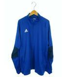 アディダス adidas スポーツウェア トラックジャケット  ジャージ 上着 3ライン ジップアップ ロゴ ブルー 青 XO