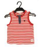 ミキハウス ダブルビー ダブルB MIKIHOUSE DOUBLE.B トップス タンクトップ ボーダー ロゴ 刺繍 コットン 赤 白 110 子供服 女の子 男の子