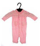 ラルフローレン RALPH LAUREN ポロロンパース カバオール ボーダー ワンポイント コットン 長袖 ピンク 3M 60/44 女の子 ベビー 子供服