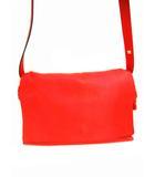 ロエベ LOEWE レザー ショルダーバッグ バッグ フラメンコフラップ 革 カバン 鞄 赤 レッド