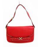 サルヴァトーレフェラガモ Salvatore Ferragamo セミショルダーバッグ ワンショルダーバッグ ショルダー バッグ レザー 革 フラップ ガンチーニ 鞄 カバン 赤 レッド