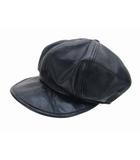 カシラ CA4LA ヴィクティム VICTIM キャスケット 帽子 レザー 革 ブラック 黒