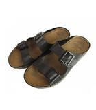 クラークス clarks コンフォート サンダル シューズ 靴 レザー 黒 ブラック 24.5cm