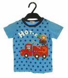 ミキハウス mikihouse トップス Tシャツ 半袖 プリント 星 コットン ブルー 紺 90cm 女の子 男の子 子供服