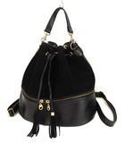 ステュディオス STUDIOUS 2way リュックサック バックパック かばん 鞄 巾着型 スウェード レザー 黒 ブラック