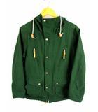 フリークスストア FREAKS STORE マウンテンパーカー ジャケット 143-1540 コットン ナイロン ジップアップ サイズM グリーン 緑
