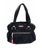 ディーゼル DIESEL ショルダーバッグ ハンドバッグ バッグ 綿 コットン 内側ボタニカル柄 黒 ブラック 鞄 カバン
