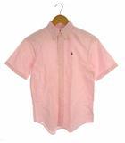 ラルフローレン RALPH LAUREN トップス ボタンダウンシャツ オックスフォード 半袖 ロゴ 刺繍 ワンポイント コットン ピンク 160