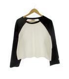 シンプリシテェ SIMPLICITE フィラ FILA ラグラン Tシャツ カットソー ロンT トップス 長袖 ブラック ホワイト 黒 白