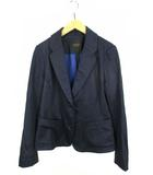 ダーマコレクション dama collection テーラードジャケット 上着 アウター 2つボタン シルク 紺 ネイビー 9R