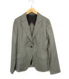 ヒルトン HILTON スーツ セットアップ 上下セット 1つボタン ジャケット パンツ ストライプ ウール グレー 9号 11号