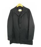 タケオキクチ TAKEO KIKUCHI スタンドカラー コート 上着 アウター 中綿ライナー 無地 黒 ブラック 3