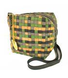 ロビタ ROBITA トーン TONE ショルダーバッグ 斜め掛け かばん 鞄 レザー メッシュ 緑 深緑系 ベージュ