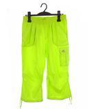 アディダス adidas カーゴ カプリパンツ 半端丈 ボトム スポーツウェア フィットネス F93994 蛍光イエロー 黄緑系 OT