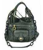 トフ&ロードストーン TOFF&LOADSTONE 2Way ハンドバッグ ショルダーバッグ 鞄 カバン プラスチックチェーン 肩掛け フリンジ 無地 チャコール