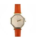 イヴサンローラン YVES SAINT LAURENT シチズン CITIZEN 腕時計 クォーツ ウォッチ 八角形 2針 レザーベルト 2720-271696 シルバー ゴールド