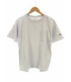 チャンピオン CHAMPION 半袖 Tシャツ カットソー ポケット T1011 無地 ワンポイントワッペン ライトグレー サイズM