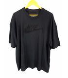 ナイキ NIKE 半袖 Tシャツ カットソー トリプルブラック OV S/S ロゴ刺繍 BV7580-010 黒 ブラック サイズXXL 綿 コットン