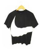 ナイキ NIKE 半袖 Tシャツ カットソー HBR SWOOSH S/S スウッシュ プリント AR5192-010 黒 白 ブラック ホワイト サイズXL 綿 コットン