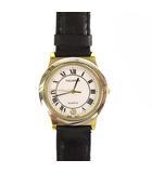 テクノス TECHNOS 腕時計 クォーツ ウォッチ 3針 日付カレンダー レザーベルト