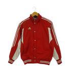 アディダス adidas 3本ライン 中綿 ジャケット ブルゾン ジャンパー ジップアップ アウター 上着 レッド ライトグレー 赤 160 ジュニア 子供服