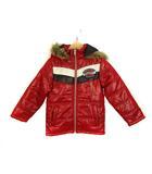 ラングラー WRANGLER フェイクファー フード付き 中綿 ジャケット ブルゾン ジャンパー ジップアップ アウター 上着 フーディ レッド 赤 120 子供服