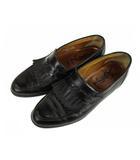 イヴサンローラン YVES SAINT LAURENT タッセル ローファー シューズ 靴 レザー 革 黒 ブラック 6 1/2