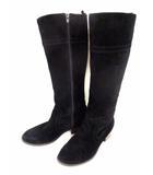 クミキョク 組曲 KUMIKYOKU ロングブーツ ブーツ スエード サイドジップ 黒 ブラック サイズL
