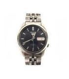 セイコー SEIKO 5 腕時計 自動巻き ウォッチ 日付カレンダー 7S26-01V0 シルバー ネイビー