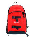 シュプリーム SUPREME リュックサック バックパック デイパック 2014SS Logo Backpack ボックスロゴ プリント 鞄 カバン 赤 黒 レッド ブラック ☆AA★