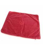 ラルフローレン RALPH LAUREN クッションカバー 枕カバー 長方形 ロゴ 刺繍 ベロア コットン ピンク系