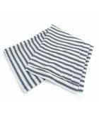 ラルフローレン RALPH LAUREN 枕カバー クッションカバー ストライプ 長方形 コットン ホワイト ネイビー 白 紺