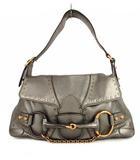 グッチ GUCCI ホースビット ワンハンドバッグ ショルダーバッグ かばん 鞄 レザー 114915 メタリック系