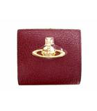 ヴィヴィアンウエストウッド Vivienne Westwood EXECUTIVE 口金二つ折りミニ財布 二つ折り財布 コンパクトウォレット がま口 レザー 革 3218C9K ワインレッド